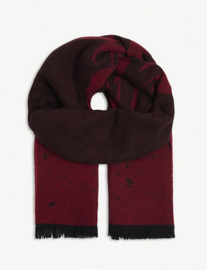 MCQ ALEXANDER MCQUEEN Degraded swallow wool scarf