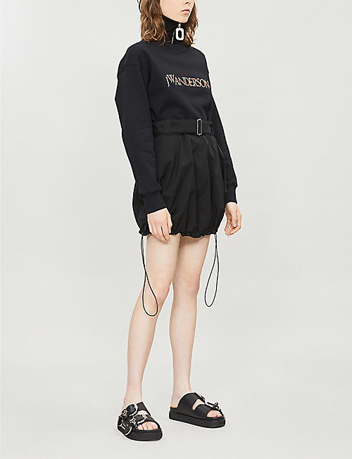 JW ANDERSON High-waist crepe mini skirt