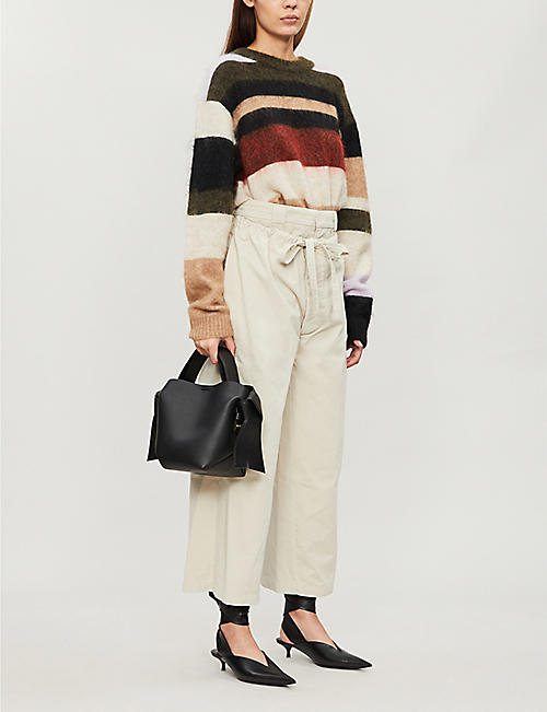 JW ANDERSON Drawstring-waistband cotton-twill trousers