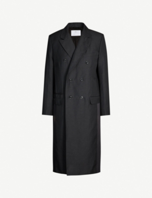 TOGA PVC-panel wool-blend coat