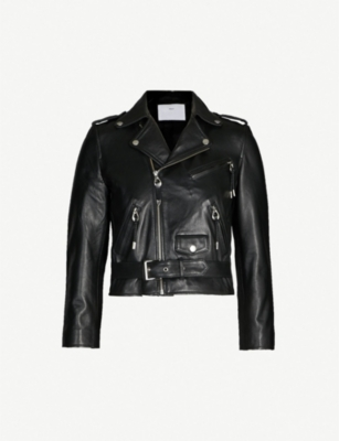TOGA Bucked-waist leather jacket
