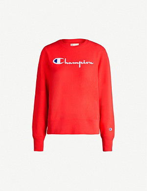 CHAMPION Logo-embroidered cotton-blend sweatshirt