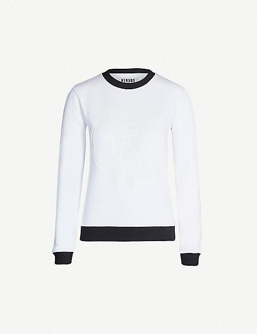 6e5c6581d058 VERSUS VERSACE Logo-embossed cotton-jersey sweatshirt