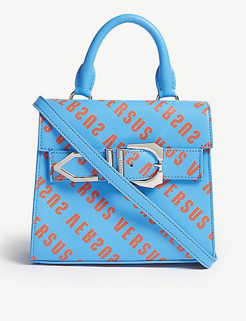 c175b69d4b VERSUS VERSACE Iconic Buckle logo-print leather bag