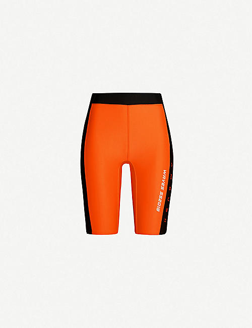 AMBUSH Waves logo-embroidered neoprene cycling shorts