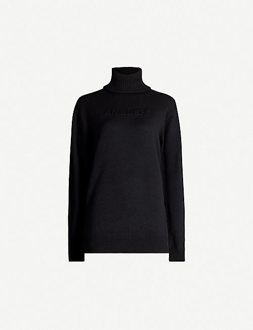 AMBUSH Logo-print wool-blend jumper
