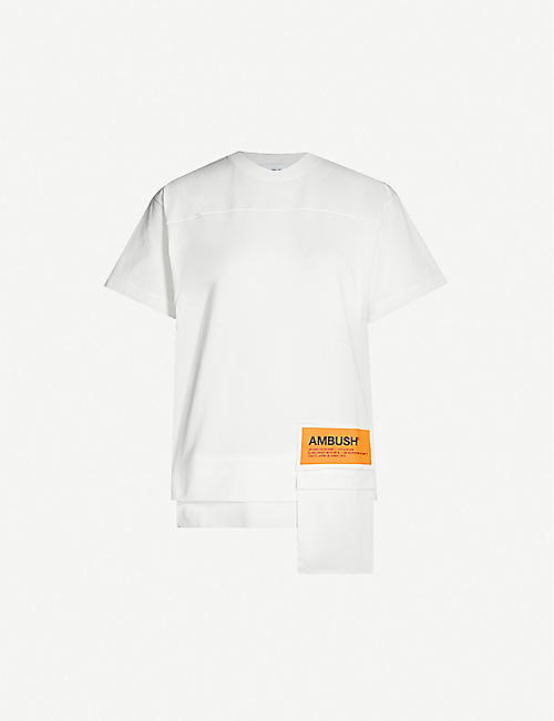 AMBUSH Oversized pocket cotton T-shirt