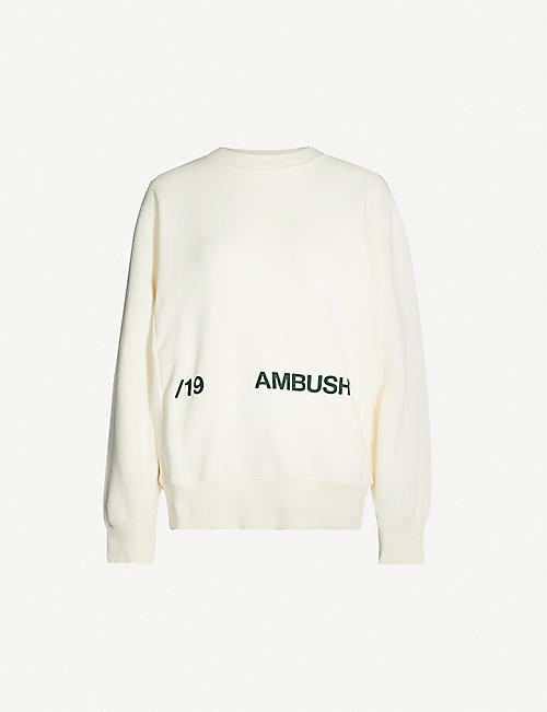AMBUSH Text-print cotton-jersey sweatshirt