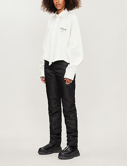 ADER ERROR 原 hem 裁剪棉twill 衬衫