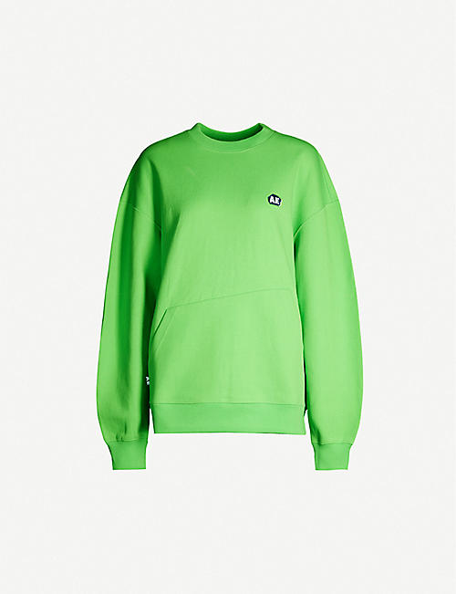 ADER ERROR Tapered-sleeve relaxed-fit cotton-blend jersey sweatshirt
