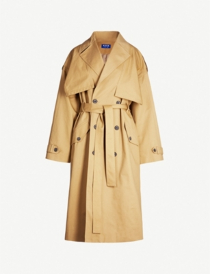 ADER ERROR Double-breasted cotton trench coat