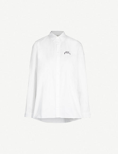 A-COLD-WALL Logo-print cotton shirt