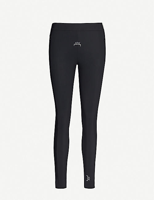 A-COLD-WALL High-rise logo-print stretch-jersey leggings