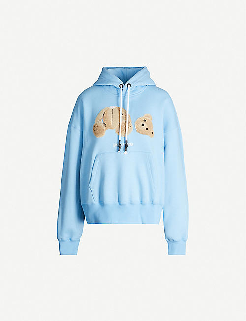PALM ANGELS Kill the Bear-print cropped cotton-jersey hoody
