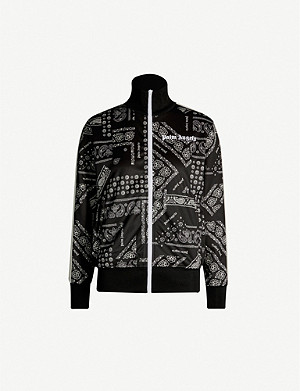 PALM ANGELS Bandana-print sports-jersey jacket