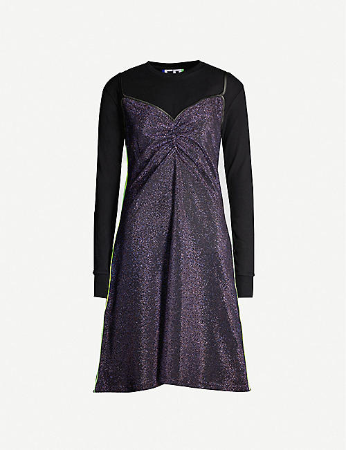 FYODOR GOLAN Glitter jersey dress