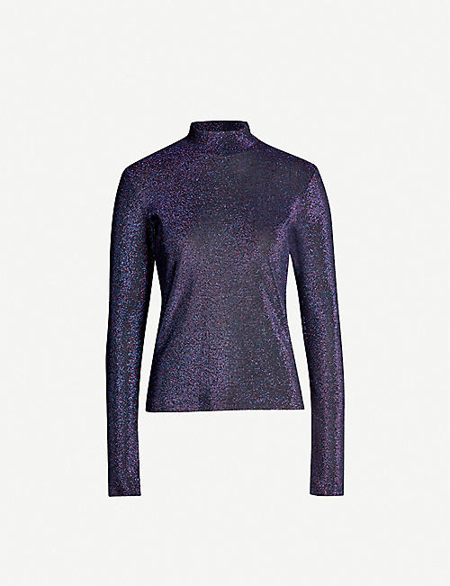FYODOR GOLAN Metallic-knit stretch-jersey jumper