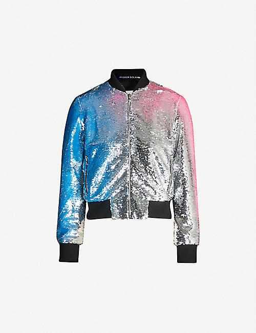 FYODOR GOLAN Sequinned bomber jacket