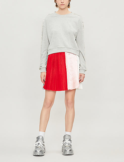FYODOR GOLAN Media colour-block crepe skirt