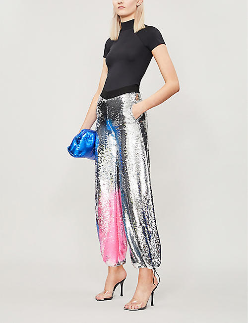 FYODOR GOLAN Tapered sequinned trousers