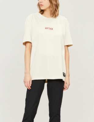 dad5b7900 PUMA X OUTLAW MOSCOW - Text-print cotton-jersey T-shirt | Selfridges.com