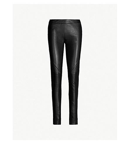 d55b996596 GARETH PUGH - High-rise leather and stretch-jersey leggings ...