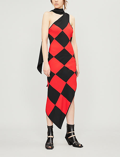 GARETH PUGH Diamond-pattern woven midi dress