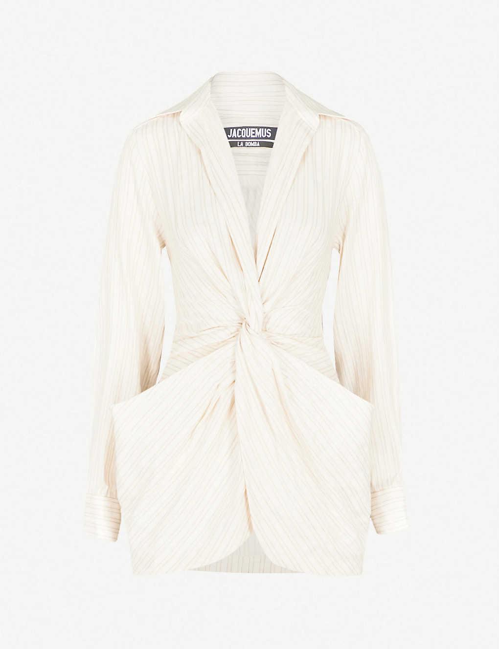 2658349eb6bb1 JACQUEMUS - La Robe Bolso linen and cotton-blend dress   Selfridges.com