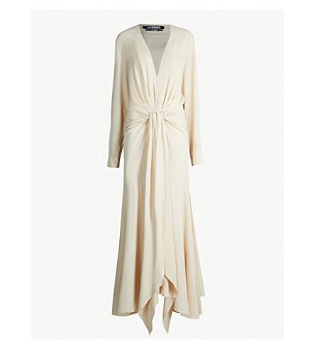 JACQUEMUS La Robe Viavelez crepe dress (Beige