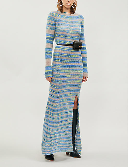 JACQUEMUS Perou striped mohair-and-alpaca blend dress