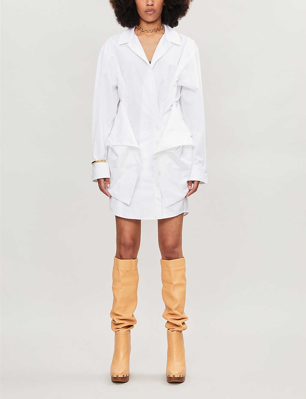 JACQUEMUS: La Robe Murano cotton shirt dress