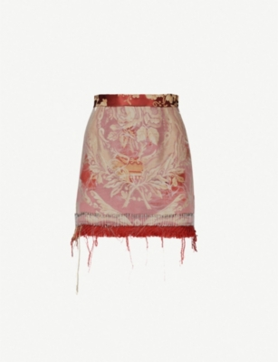 DILARA FINDIKOGLU Versailles Party net and jacquard skirt
