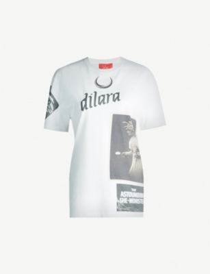 DILARA FINDIKOGLU Medusa cotton-jersey T-shirt