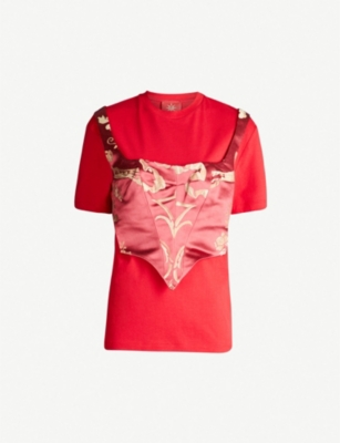 DILARA FINDIKOGLU Corset cotton-jersey T-shirt