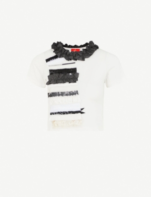 DILARA FINDIKOGLU Ruffled cotton-jersey T-shirt