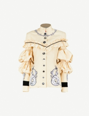 DILARA FINDIKOGLU Lucifer embellished silk jacket