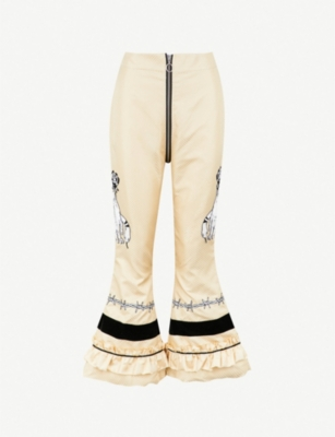 DILARA FINDIKOGLU Lucifer embellished silk trousers