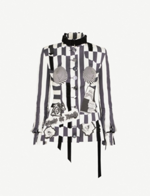 DILARA FINDIKOGLU Nun striped silk-satin jacket