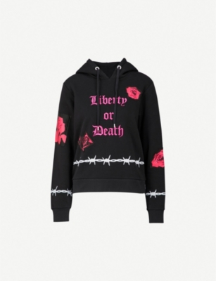 DILARA FINDIKOGLU Protester cotton-fleece hoody