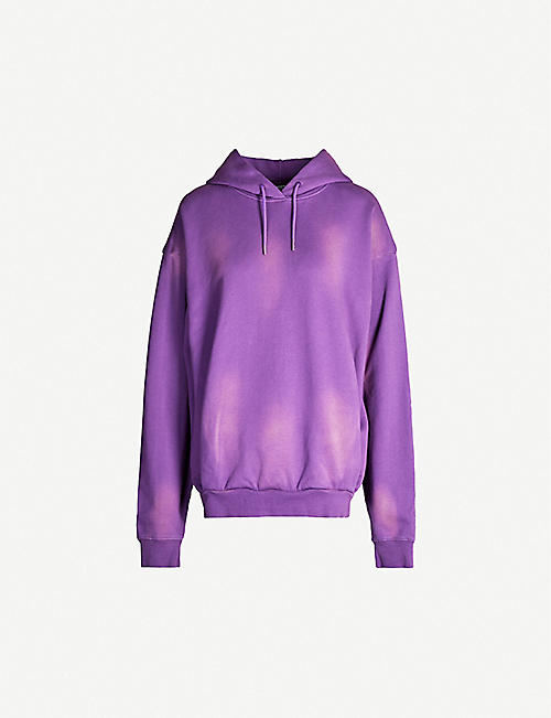 MARTINE ROSE Classic faded cotton-jersey hoody