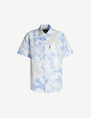 MARTINE ROSE Floral-print cotton-blend shirt
