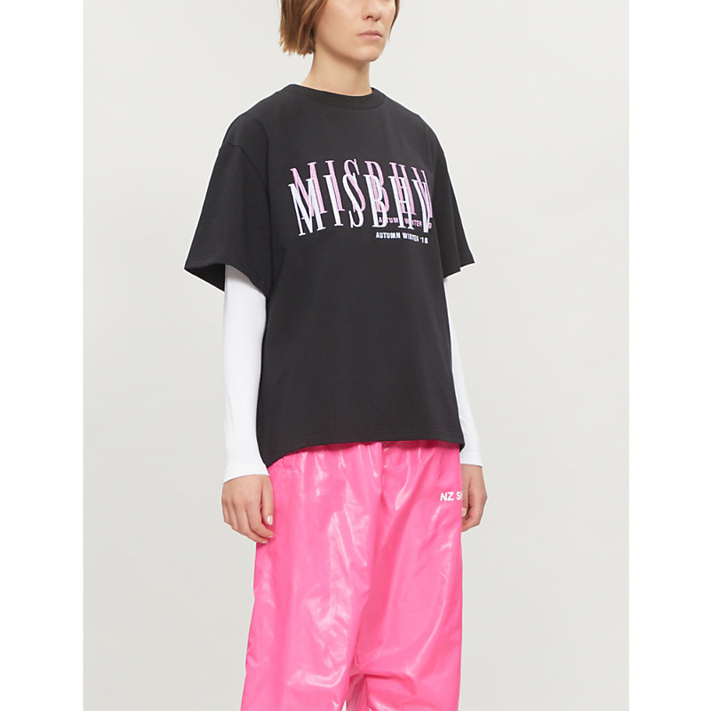 Misbhv LOGO-EMBROIDERED COTTON-JERSEY T-SHIRT