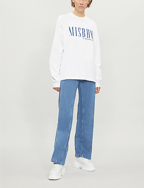 MISBHV Logo-embroidered cotton-jersey sweatshirt