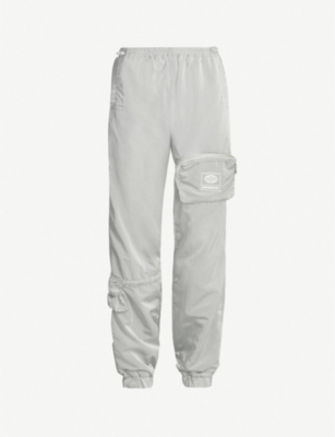 MISBHV Logo-patch high-rise shell jogging bottoms