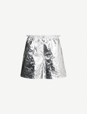 MISBHV Metallic shell shorts