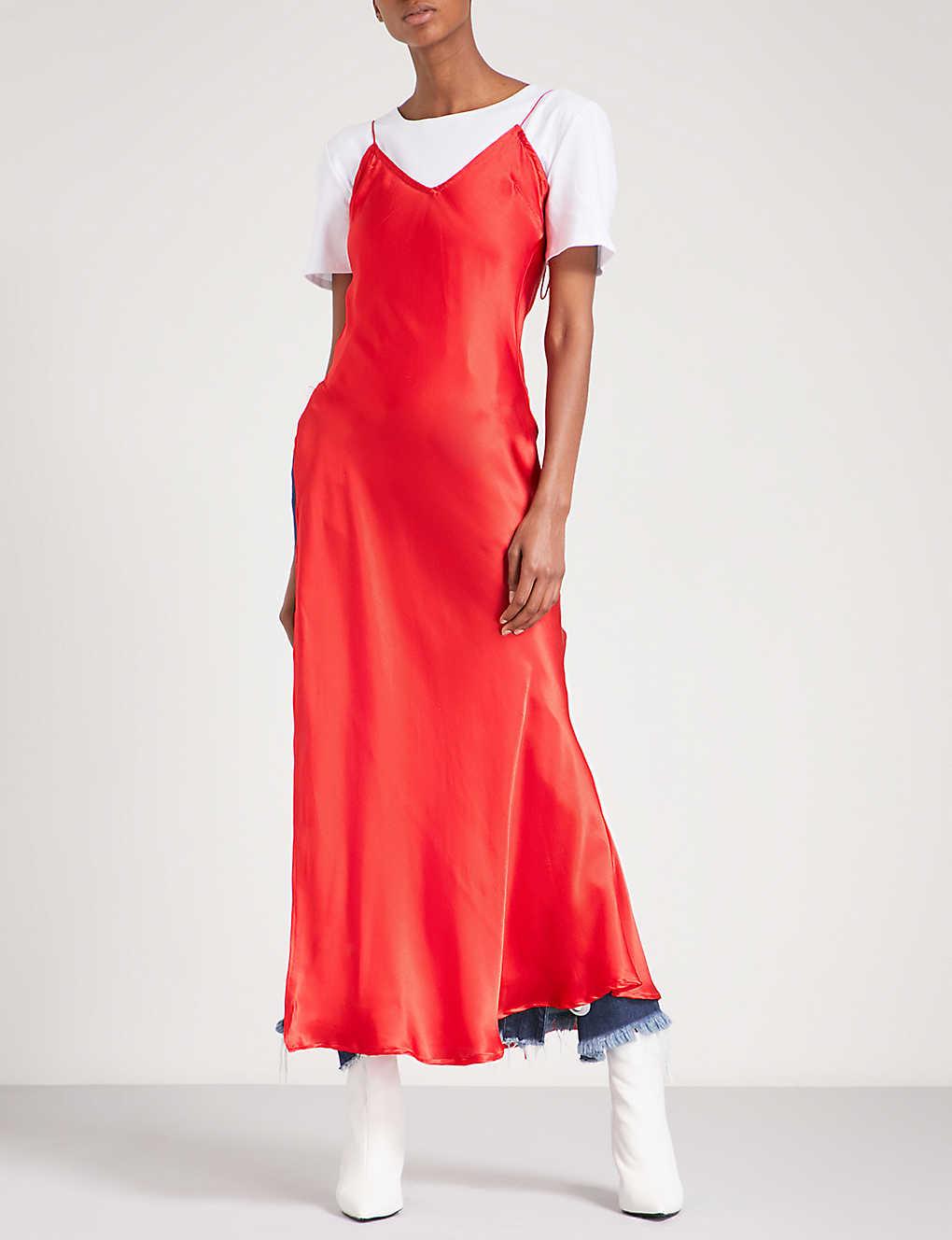 5bd85d37f25f ART SCHOOL - Bias cut silk-satin slip dress | Selfridges.com
