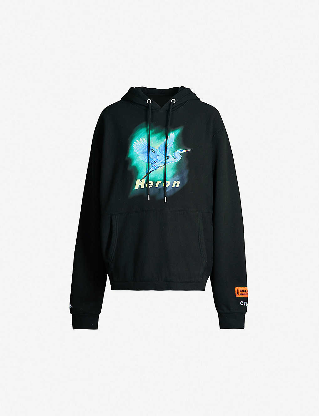 b98f0294 HERON PRESTON - Airbrush cotton-jersey hoody | Selfridges.com