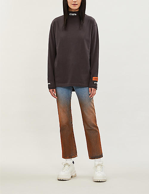 HERON PRESTON СТИЛЬ turtleneck cotton top