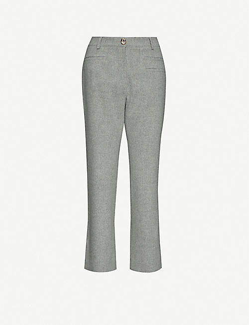 REJINA PYO Finley high-rise tapered wool-blend trousers