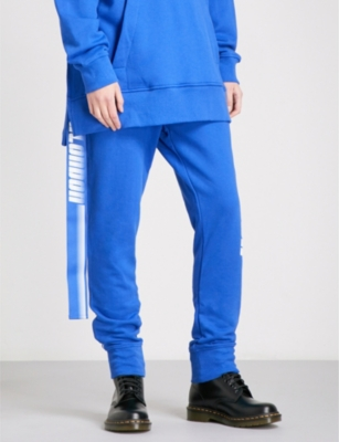 D-ANTIDOTE D-ANTIDOTE x Fila cotton-jersey jogging bottoms